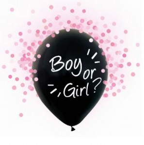 Balon BOY OR GIRL 30cm z helem