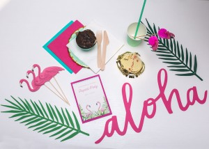 Tropikalne Baby Shower MINI EventBox aloha